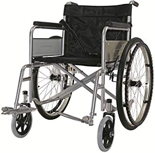 Just Home Silla de Ruedas Adultos Plegable Ligera