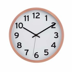 Amazon Basics Reloj de Pared numerado de 12 Pulgadas, Cobre, 1