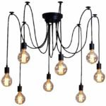 HOMEE Chandelier-Wsh E27 Loft Antique Chandelier