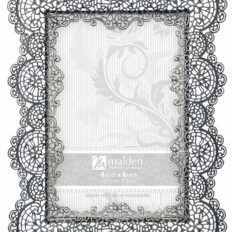 Malden Sabella Lace Metal Picture Frame, 4 by 6