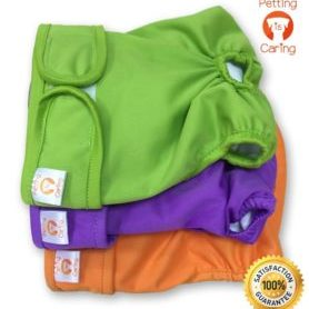 PETTING IS CARING Dog Washable Diapers & Reusable Female Dog Diapers Best Quality Materials