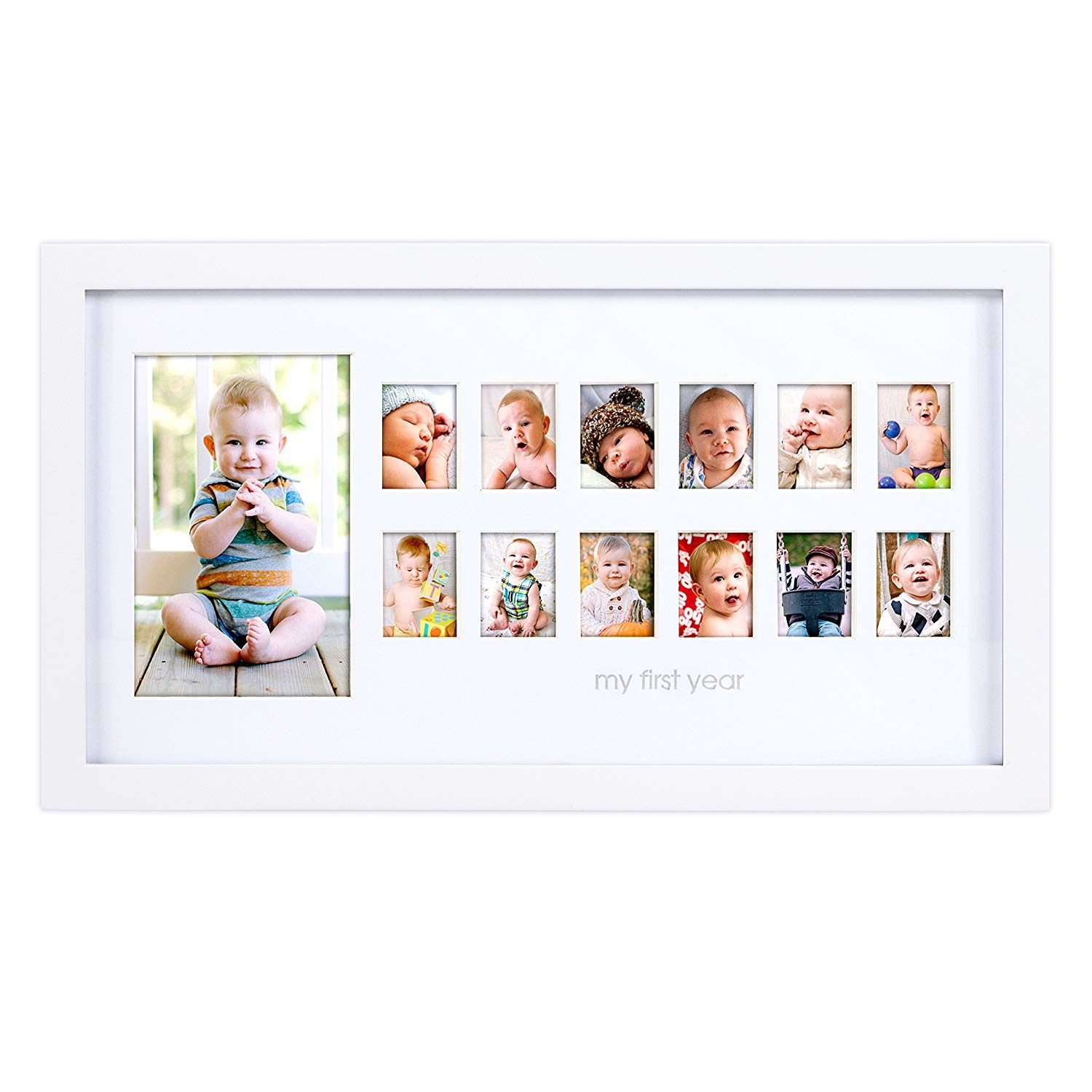 Pearhead My First Year Photo Moments Baby Keepsake Frame,